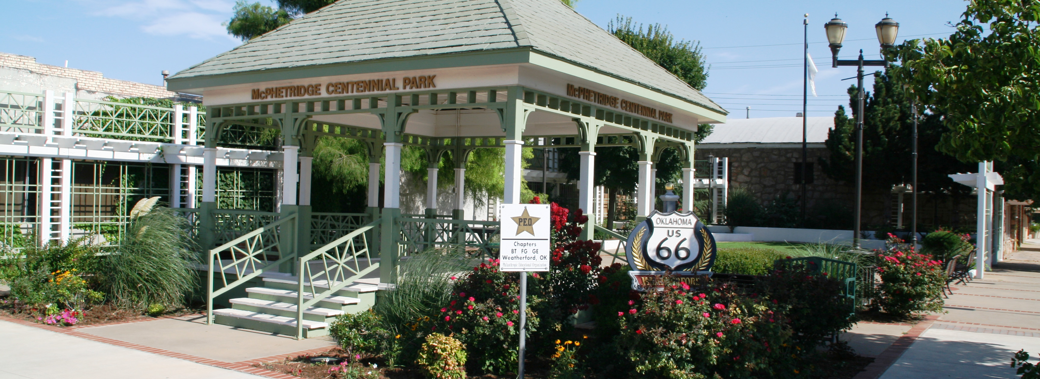 McPhetridge Centennial Park on Main Street in the Town Centre