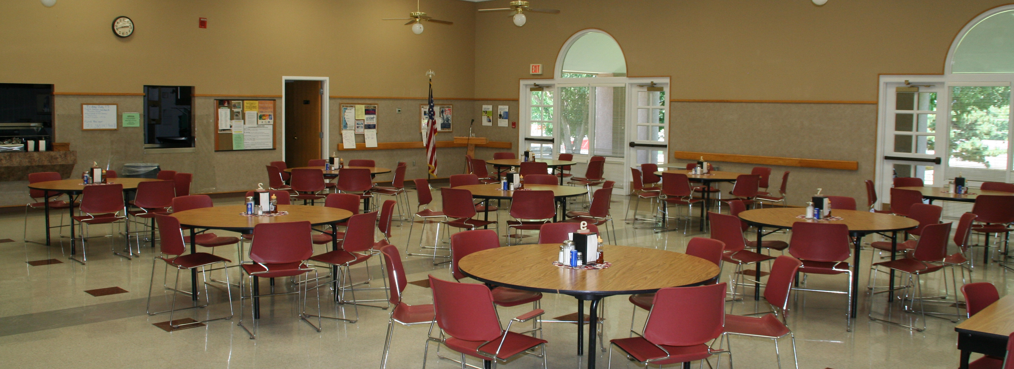 cafeteria at the Pioneer Center