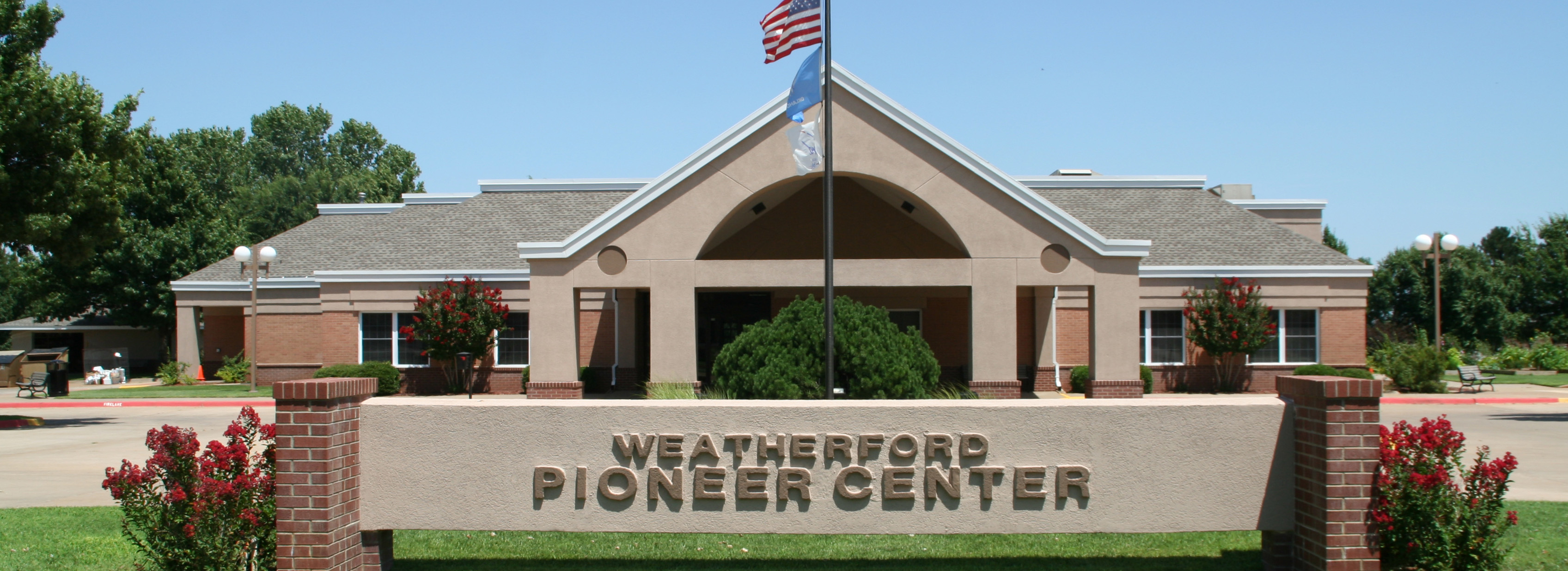 front view of the Pioneer Center
