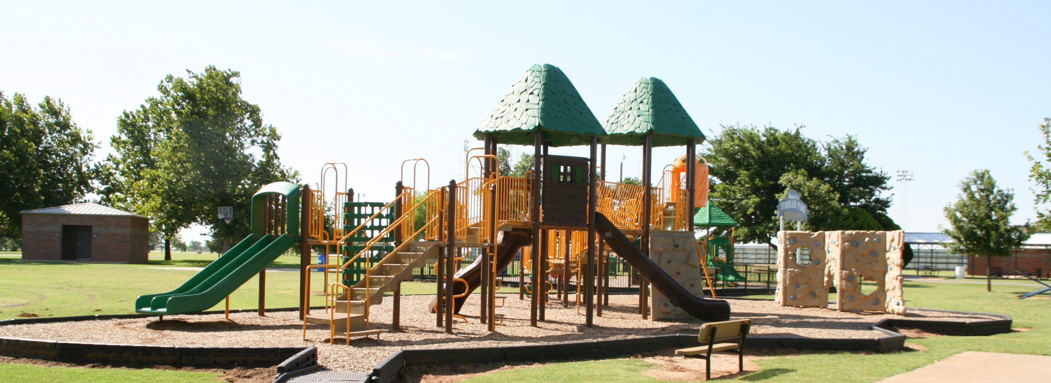 Rader Park's playground equipment