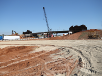 Exit 82 off of I-40 under construction
